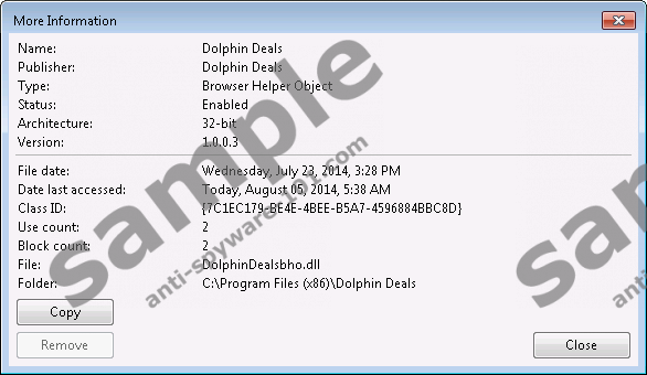 Dolphin deals ads remove