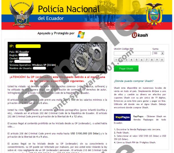 Policía Nacional del Ecuador Virus