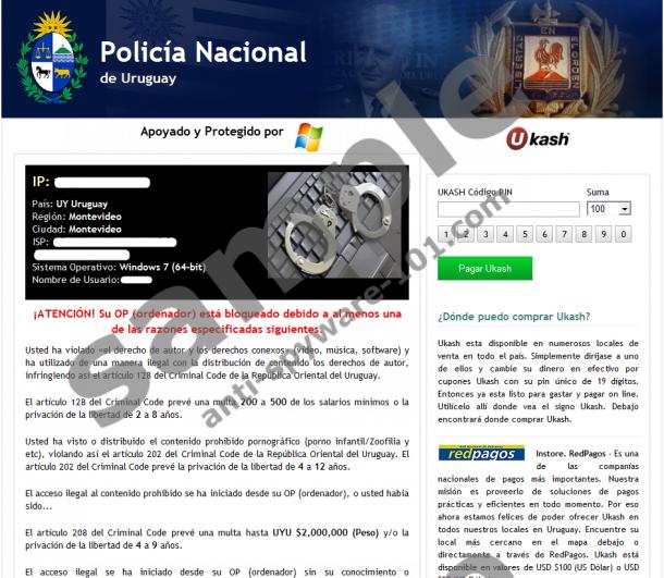 Policía Nacional de Uruguay Virus