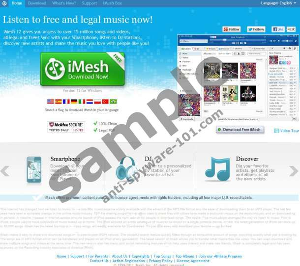 iMesh Toolbar