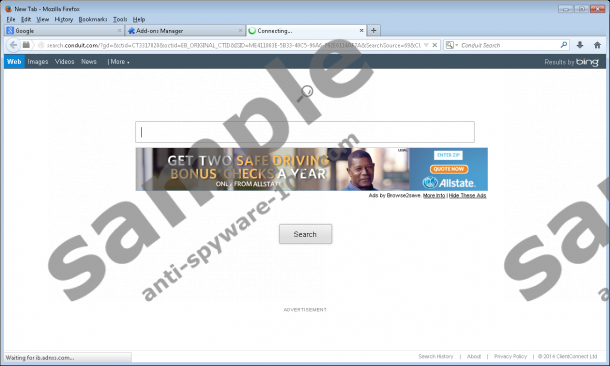 rimozione testata di Browse2Save *