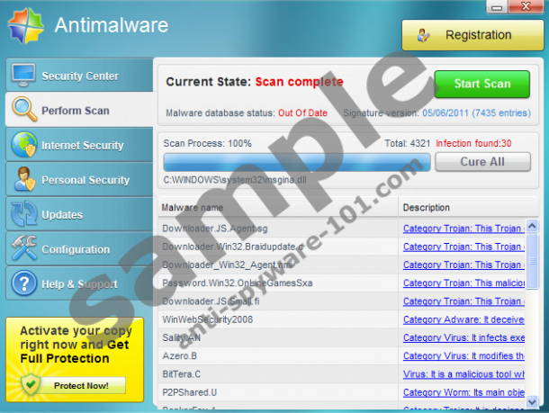 Tested removal of antimalware