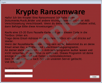 Krypte Ransomware